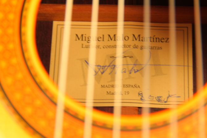 Miguel Malo 2005 rosewood label