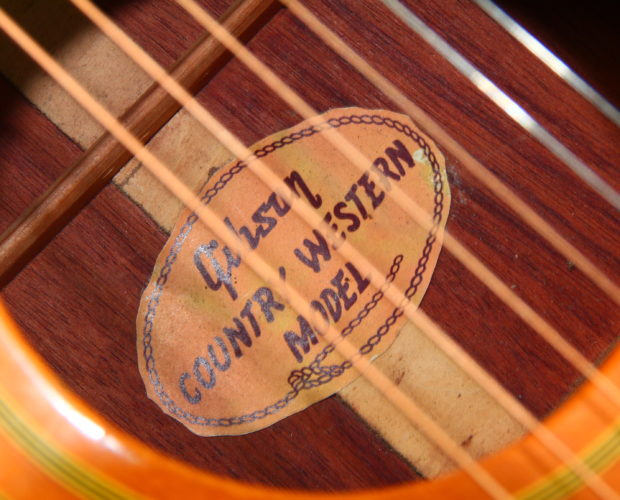 Gibson Country Western 1968 label