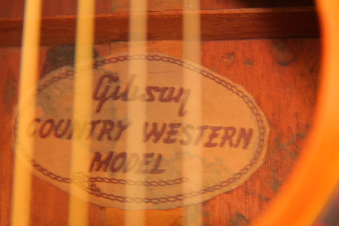 Gibson Country Western 1956 label