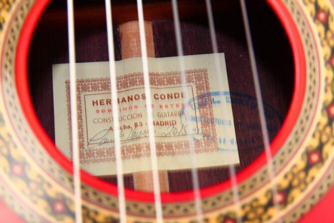 Conde Hermanos Flamenca Negra 2015 label