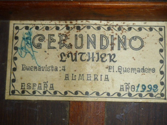 Gerundino Fernandez 1992 label