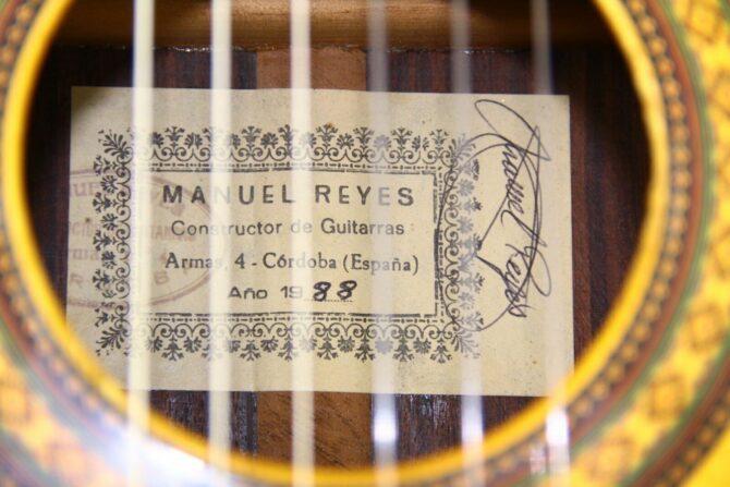 Manuel Reyes 1988 label