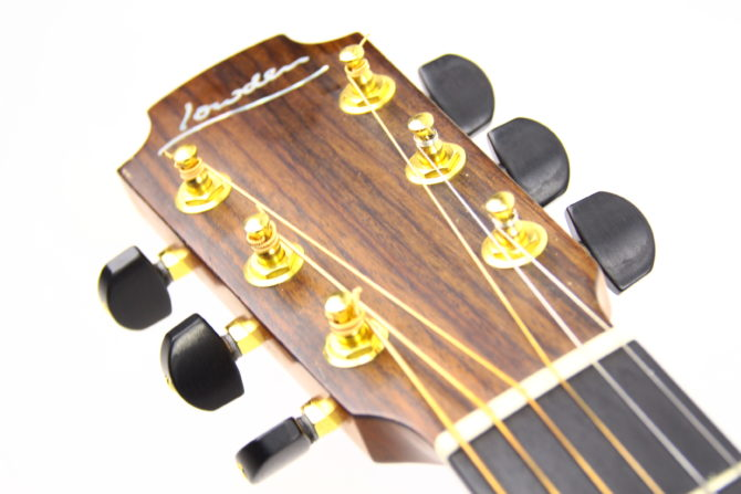 Lowden F-25 headstock front