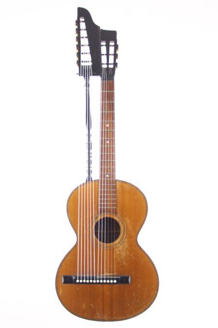IMG 0001 4 450x675 - Wiener Harfengitarre ~1900