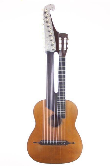 IMG 0013 450x675 - Johann Gottfried Dunger Wiener Kontragitarre (Schrammelgitarre)